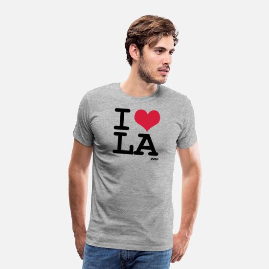 Love T-shirts - I love LA los angeles by wam - T-shirt premium Homme gris chiné