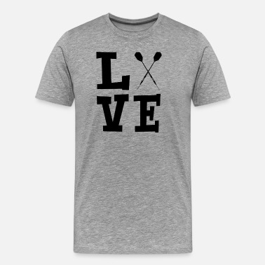 Arrow Love with darts black - Men's Premium T-Shirt
