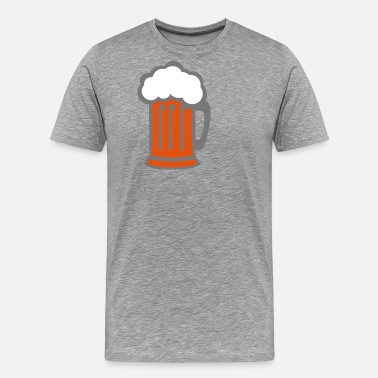 Foam beer alcohol alcohol glass 512 - Men's Premium T-Shirt