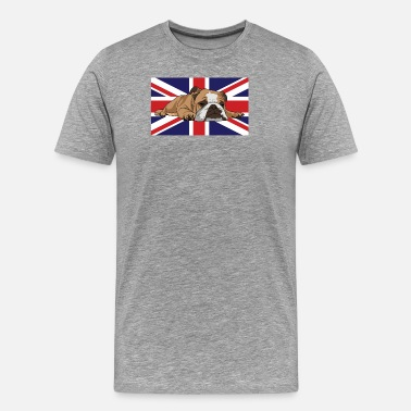 Flag Bulldog Union Jack Flag Design - Men's Premium T-Shirt