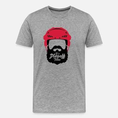 Ice Hockey Beard Eishockey Playoff Bart - Hockey Beard Helmet 1 - Men's Premium T-Shirt