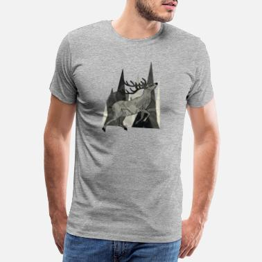 Landscape deer - Men's Premium T-Shirt