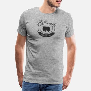 Dracula Halloween Geister Party Kürbis Laterne Schrift - Premium T-shirt herr