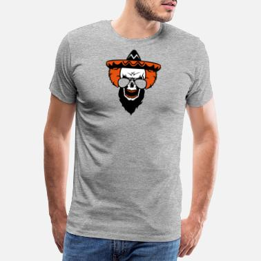 Frisky head of death clown hat mexican halloween moon - Men's Premium T-Shirt