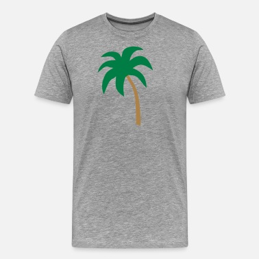 Beachvolleyball palm - Mannen Premium T-shirt