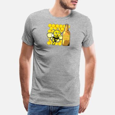Waxe Awesome Drunk Honey Bee with Honey Mead - Men's Premium T-Shirt