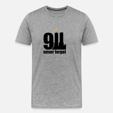 Never Forget never forget 9/11 - Mannen Premium T-shirt