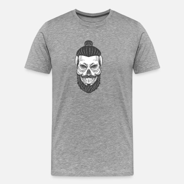 Braid Skull with braid - Men's Premium T-Shirt