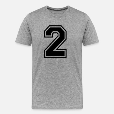 Jga 2 Two number digit number back number gift - Men's Premium T-Shirt
