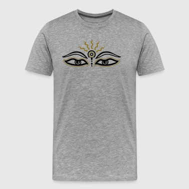 Buddha, third eye, samadhi, meditation, tibetan - Men's Premium T-Shirt