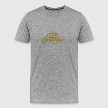 Crown King best Grandpa - Men's Premium T-Shirt