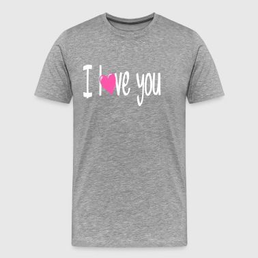 i love you 7 - Men's Premium T-Shirt