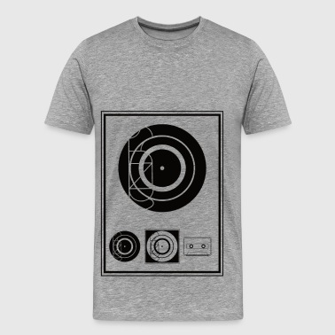 Kynda Music Black Plaque - Mannen Premium T-shirt