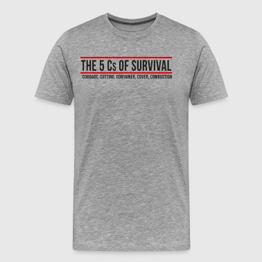 5cs of Survival Banner - Männer Premium T-Shirt