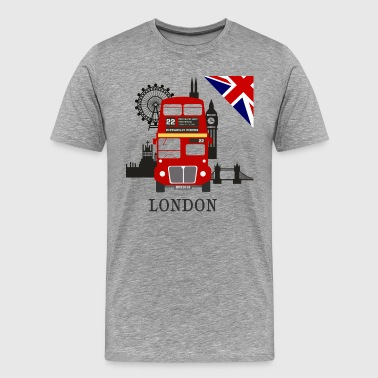 England, London, sightseeing, - Herre premium T-shirt