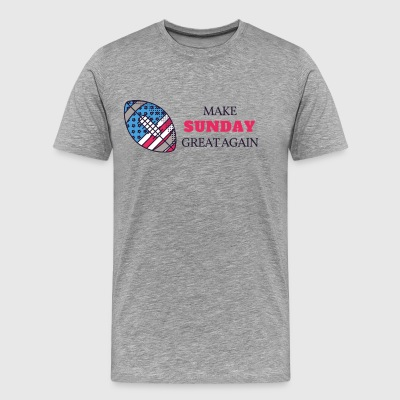 Make Sunday Great Again - ROT - Männer Premium T-Shirt