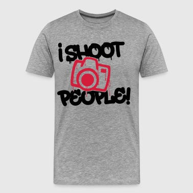 I shoot people - Photography - Men's Premium T-Shirt