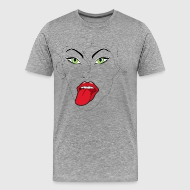 Ms. Lady Naughty tong gift - Mannen Premium T-shirt
