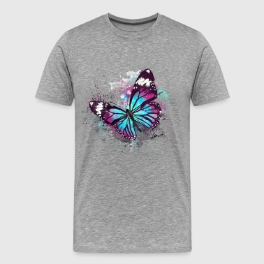 Beautiful Butterfly Watercolour - Men's Premium T-Shirt