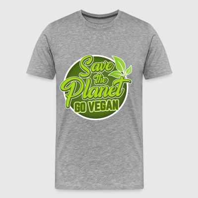 Save The Planet - Go Vegan - Men's Premium T-Shirt