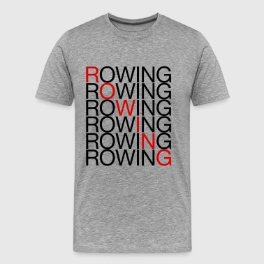 Rowing x7 - Men's Premium T-Shirt