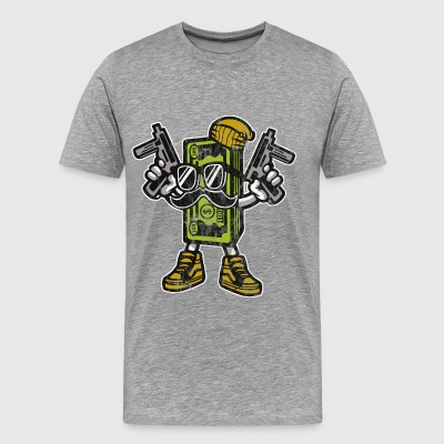 PENGE GANGSTER - Tegneserie og Cartoon Shirt Design - Herre premium T-shirt