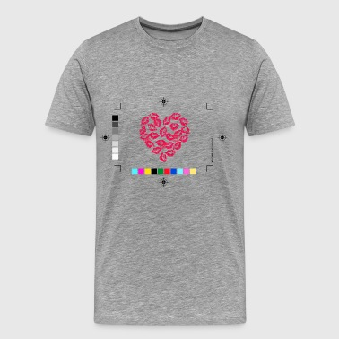Kissing Lips Heart - Men's Premium T-Shirt