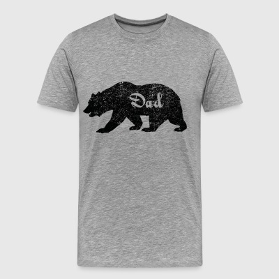 Daddy bear. Gifts for Dad. New Dad. Camping Gifts - Men's Premium T-Shirt