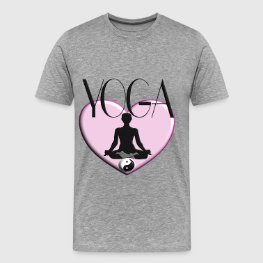 Yoga Herz Ying / Yang Sports Therapy Coeur Femmes - T-shirt Premium Homme