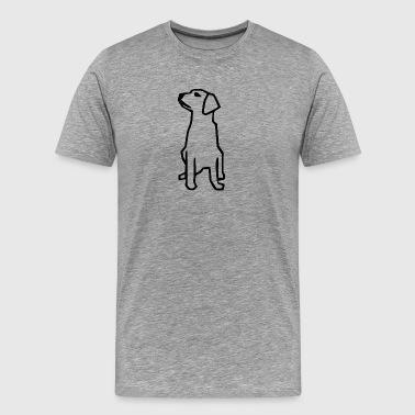 Dog silhouette - Men's Premium T-Shirt