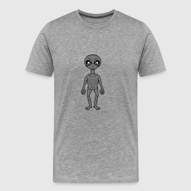 Small grey grey alien - Men's Premium T-Shirt