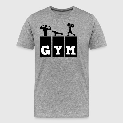 gym - Premium T-skjorte for menn