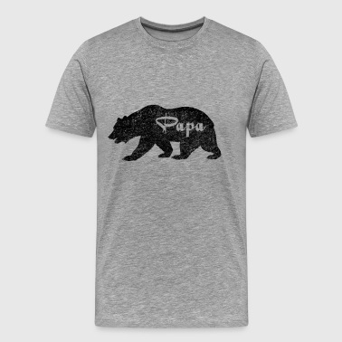 Papa Black Bear. Love Camping - Men's Premium T-Shirt