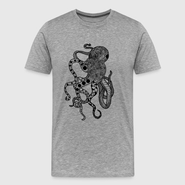 Zentangle Squid - T-shirt Premium Homme