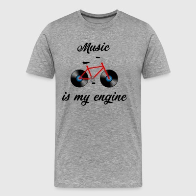 MUSIC IS MY ENGINE - Music - Bicycle - Men's Premium T-Shirt