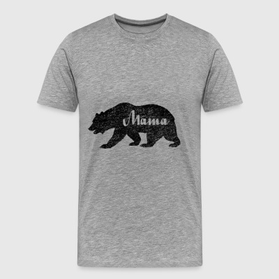 Mama Black Bear Camping. Camping Amoureux - T-shirt Premium Homme