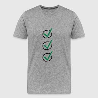 Three Checkmarks - Männer Premium T-Shirt