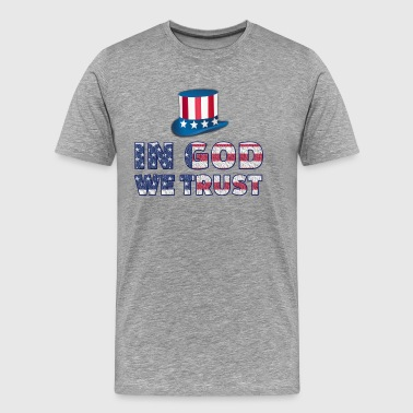 America Slogan-in God - Men's Premium T-Shirt