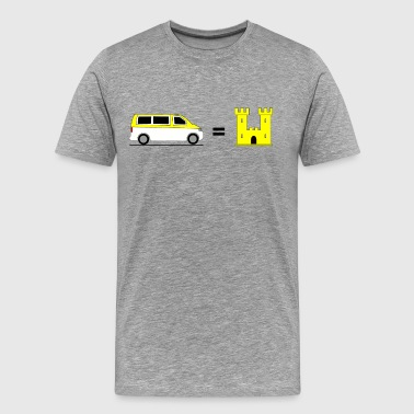 My Bus is my Castle - Gelb - Männer Premium T-Shirt