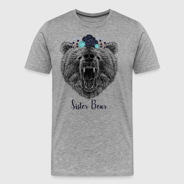 Cool Sister Bear Wild Grizzly Bear Funny Gifts - Men's Premium T-Shirt