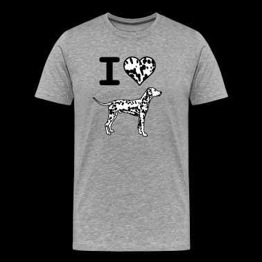 I Love Dalmatians - Men's Premium T-Shirt