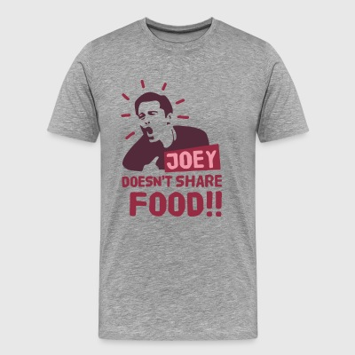 Joey-doesnt-aksje-mat-rød - Premium T-skjorte for menn