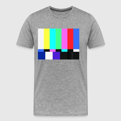 Test Card.Test Pattern. Retro Television Crew.SALE - Men's Premium T-Shirt