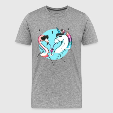 Cool flamingo and unicorn - T-shirt Premium Homme