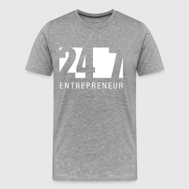 247 Entrepreneur Hustle Lifestyle Money Mentality - Männer Premium T-Shirt