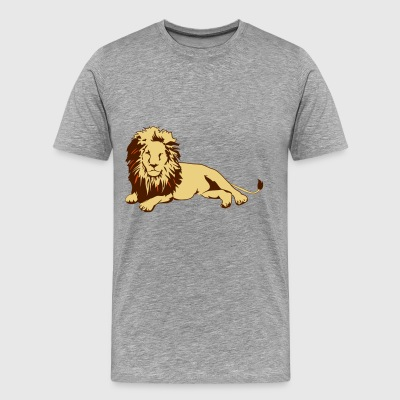 Lion (lying) - Men's Premium T-Shirt