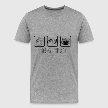 triathlete vandring - Premium-T-shirt herr