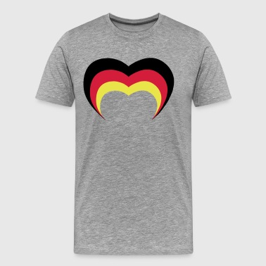 Germany heart motif shirt and hoodie - Men's Premium T-Shirt