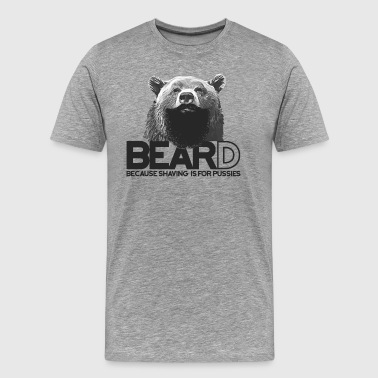 Bear and beard - Ours avec barbe - T-shirt Premium Homme