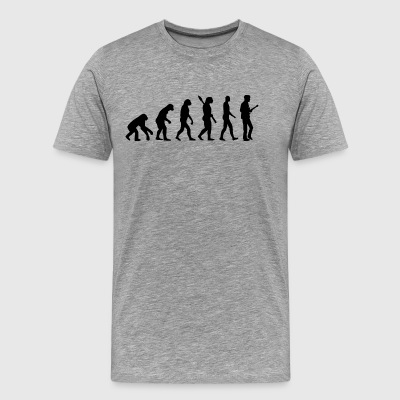 Evolution Guitar Guitarist b - Men's Premium T-Shirt